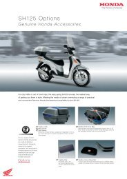 Genuine Honda Accessories - Doble Motorcycles