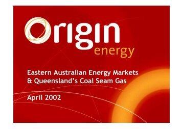 Presentation to Investment Community in Brisbane - Origin Energy