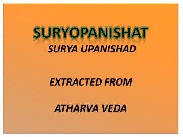Suryopanishat - Shri Surya Narayan Mandir