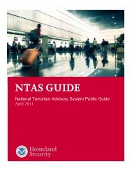 NTAS Guide - Homeland Security