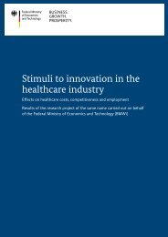 Stimuli to innovation in the healthcare industry - BMWi