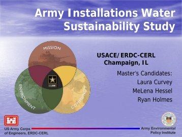 Army Installation Water Sustainability Study - Illinois Sustainable ...