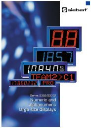 Numeric and alphanumeric large size displays Numeric ... - Multiprox