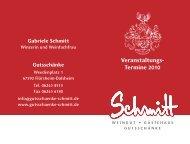 Veranstaltungs- Termine 2010 - Weingut, Gutsschänke und ...