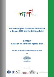 How to strengthen the territorial dimension of 'Europe 2020' and EU ...