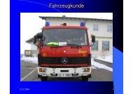 Fahrzeugkunde - Freiwillige Feuerwehr Pflugdorf-Stadl