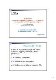 La contabilità comunale della CO2 nel progetto ... - Centro CISA