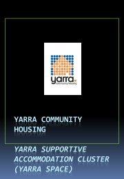 Yarra Community Housing slide show - HomeGround Services