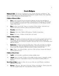 Introduction to the Greek gods - Louisiana Tech University