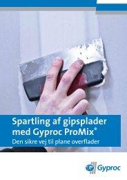 Spartling af gipsplader med Gyproc ProMix®