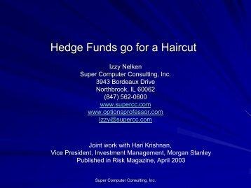 Hedge Fund Presentation - Super Computer Consulting, Inc