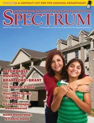 Spectrum Newsletter 2009 - City of Brantford