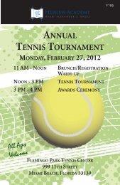 annual tennis tournament monday,february 27, 2012 - Rasg.org