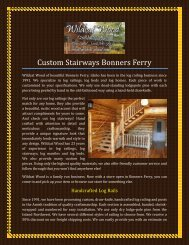 Custom Stairways Bonners Ferry