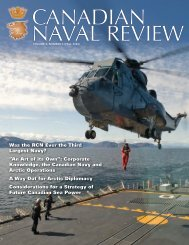 Cover Page - Canadian Naval Review