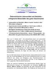 Österreichische Lebensmittel und Getränke - erfolgreiche ...