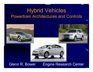 Hybrid Vehicles y - Engine Research Center