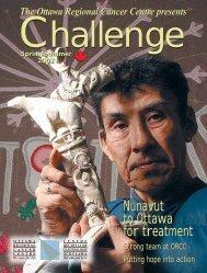 Spring/Summer 2002 - The Ottawa Regional Cancer Foundation