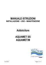 Manuale addolcitori Aquamet