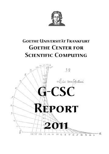 Download Report here - G-CSC Home - Goethe-Universität
