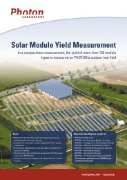 Solar Module Yield Measurement - Going Solar