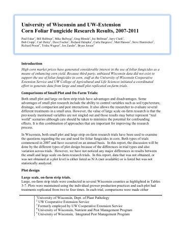 Corn Foliar Fungicide Research Results 2007-11 - Integrated Pest ...