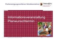 Informationsveranstaltung Planwunschtermin - DLR Eifel