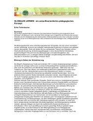 Globales Lernen – ein zukunftsorientiertes pädagogisches ... - Baobab