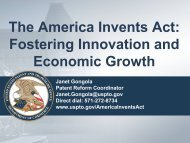The America Invents Act - United States Patent and Trademark Office