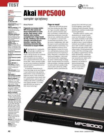 Akai MPC5000 Estrada i Studio październik 2008 - Audiostacja