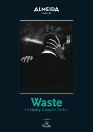 Waste by Harley Granville Barker - Almeida Theatre
