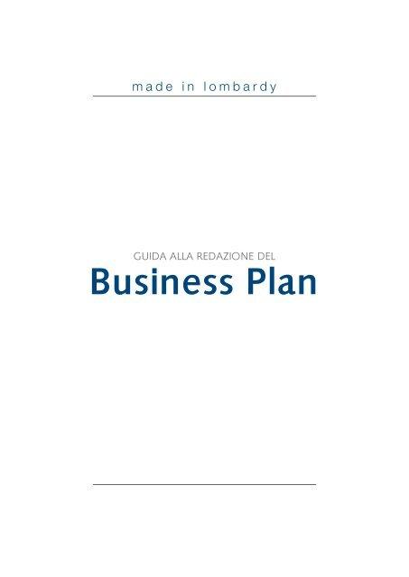 guida alla redazione del business plan made in lombardy