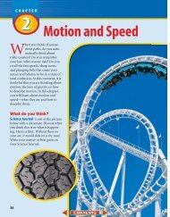 Chapter 2: Motion and Speed - Wylie Jr. High School