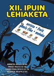XII. IPUIN LEHIAKETA - Arrieta
