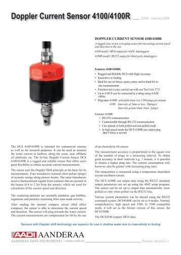 Doppler Current Sensor 4100/4100R