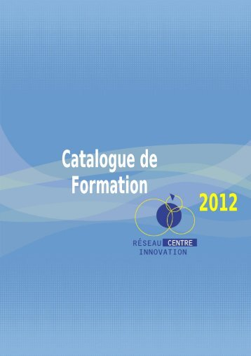 2012 Catalogue de Formation