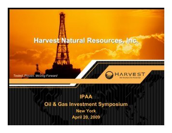 Harvest Natural Resources, Inc. US Portfolio - cpzulia.org