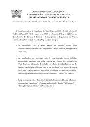 trabalhos selecionados - Jornalismo da UFV