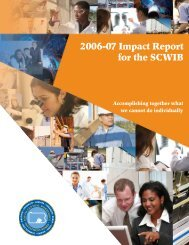 2006-07 Impact Report for the SCWIB - South Central Workforce ...