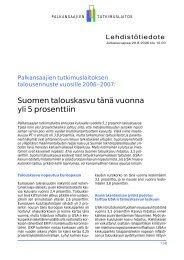 Talousennuste 2006-2007 - Palkansaajien tutkimuslaitos