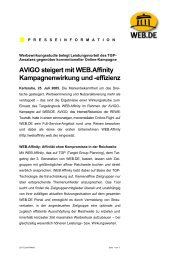 AVIGO steigert mit Web.affinity Kampagnenwirkung und -effizienz