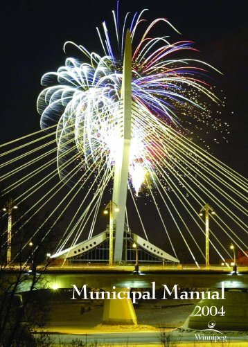 Municipal Manual - City of Winnipeg