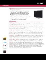 KDL-40EX500 - ABC Warehouse