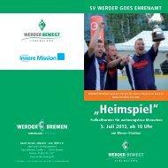 Werder Heimspiel Wohnungslose (pdf, 1.4 MB) - Bremen