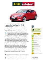 Umfassender Test Hyundai Veloster 1.6 Premium - ADAC