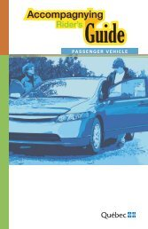 Accompagnying Rider's Guide - Passenger Vehicle