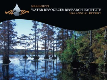 2008 Annual Report - Water Resources Research Institute ...