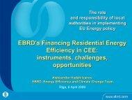 EBRD's EBRD's Financing Residential Energy Efficiency in CEE ...
