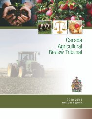 Canada Agricultural Review Tribunal