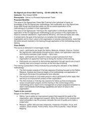 Six Sigma/Lean Green Belt Training ES 401 - ASQ Philadelphia ...